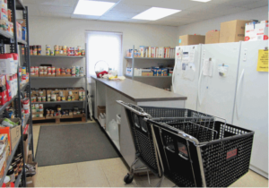 New Scotland Community Food Pantry shelves