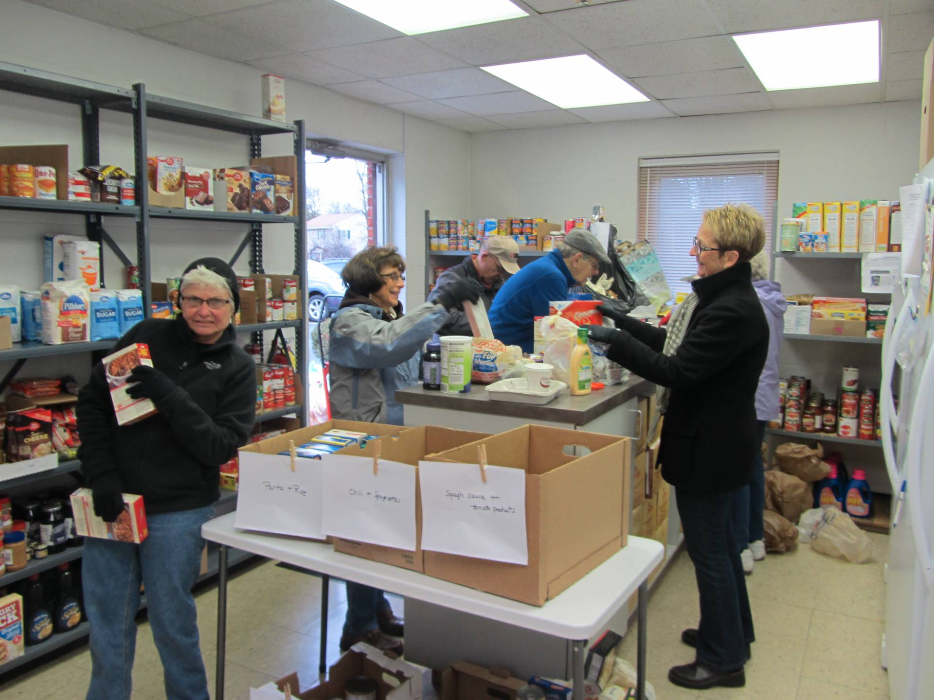 stocking the new scotland community food pantry